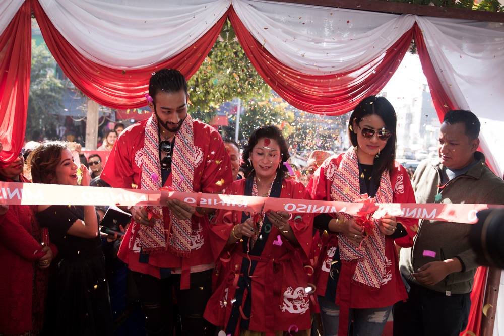 Pokhara Going Red And White  - Miniso Nepal